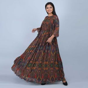 Ratan Jaipur Maxi Multicolor Tribal Dress Caftan